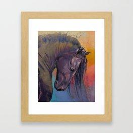 Friesian Horse Framed Art Print