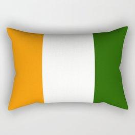 TEAM COLORS 7....GREEN ORANGE WHITE Rectangular Pillow