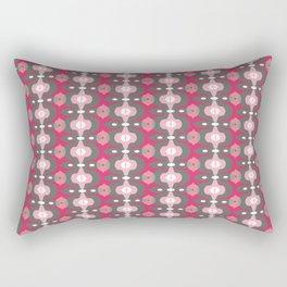 Pink Apple Pattern Rectangular Pillow