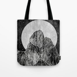 The Lone peaks of the moon Tote Bag