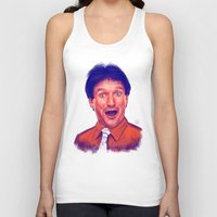 robin williams Tank Tops featuring Young Robin Williams  by Thubakabra