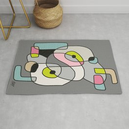 Abstract Painting of a Dog (1) - Modern Artwork Rug