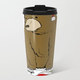 Santa Bear Metal Travel Mug