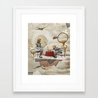 tea Framed Art Prints featuring tea time by Heather Landis