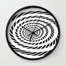 BLACK LICORICE TWIST SWIRL Abstract Art Wall Clock