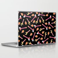 magical girl Laptop & iPad Skins featuring Magical Girl Weapons – Black by mimia
