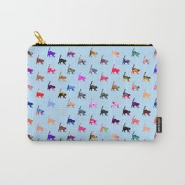 Pretty Cats - Blue Carry-All Pouch