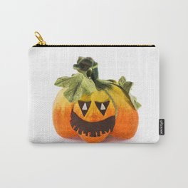 Pumpkin handmade from felted wool for celebration of Halloween Carry-All Pouch
