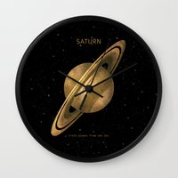 saturn Wall Clocks featuring Saturn by Terry Fan