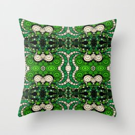 art retro pattern Throw Pillow