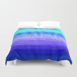 Ocean Horizon - cobalt blue, purple & mint watercolor abstract Duvet Cover