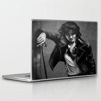 chaplin Laptop & iPad Skins featuring Charlie Chaplin by Monashka