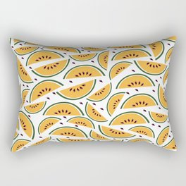 Yellow watermelon pattern art Rectangular Pillow