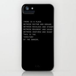 Between rhythm and ground iPhone Case