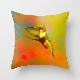 End of Summer Hummingbird Throw Pillow