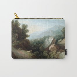 Thomas Gainsborough Rocky, Wooded Landscape with a Dell and Weir Carry-All Pouch