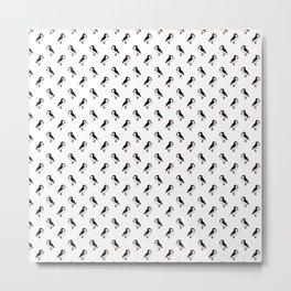 Petite Puffins Metal Print