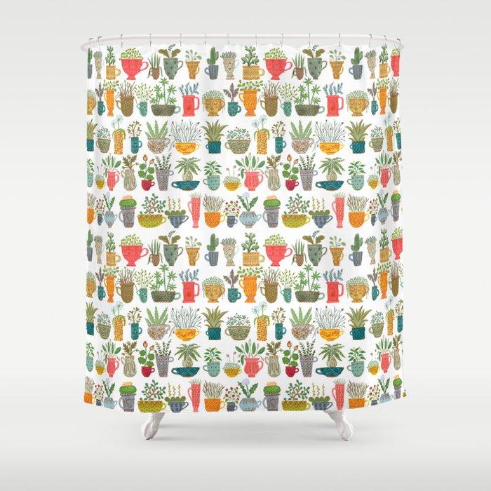 Teacup Garden Shower Curtain by kirstensevig | Society6