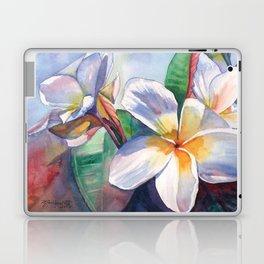 Tropical Plumeria Flowers Laptop & iPad Skin