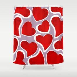 Mosaic Hearts Shower Curtain