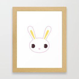 Kawaii Animals - Rabbit Framed Art Print
