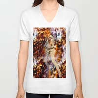 luke hemmings V-neck T-shirts featuring Luke Skywalker  by Saundra Myles
