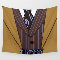 suit Wall Tapestries featuring Brown Suit by Laain Studios
