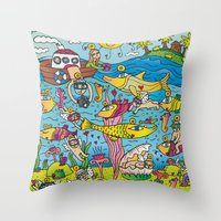 angels Throw Pillows featuring Angels by Kamil Kopecky