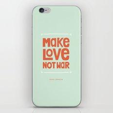 Make Love, Not War iPhone & iPod Skin