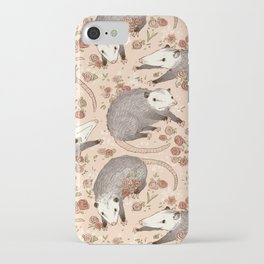 Opossum and Roses iPhone Case