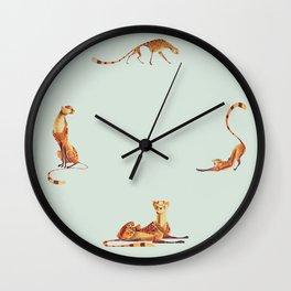 Cheetah poses Wall Clock