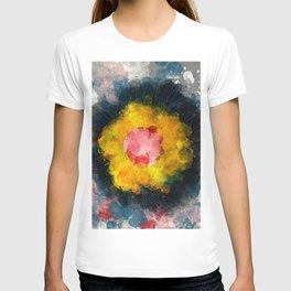 Zen Flower Abstract Expressionism Art T-shirt