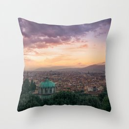 Sunset over Florence, Italy Throw Pillow