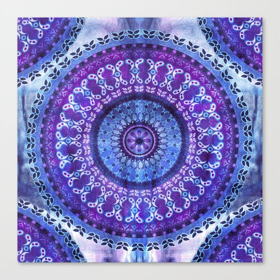 Hydrangea Mandala Canvas Print