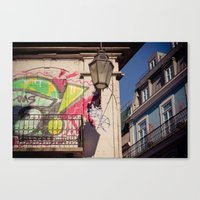 graffiti Canvas Prints featuring graffiti by Sébastien BOUVIER