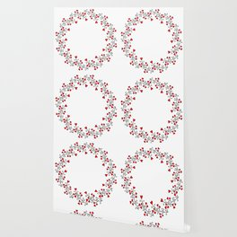 Wreath with hearts Wallpaper