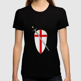 Crusaders Shield and Sword T-shirt