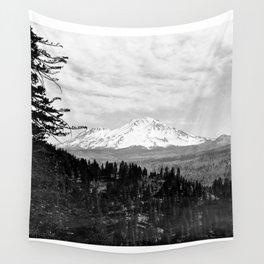 Mount Shasta, and neighboring mountain Shastina, Siskiyou County, ca.1900-1940 Wall Tapestry