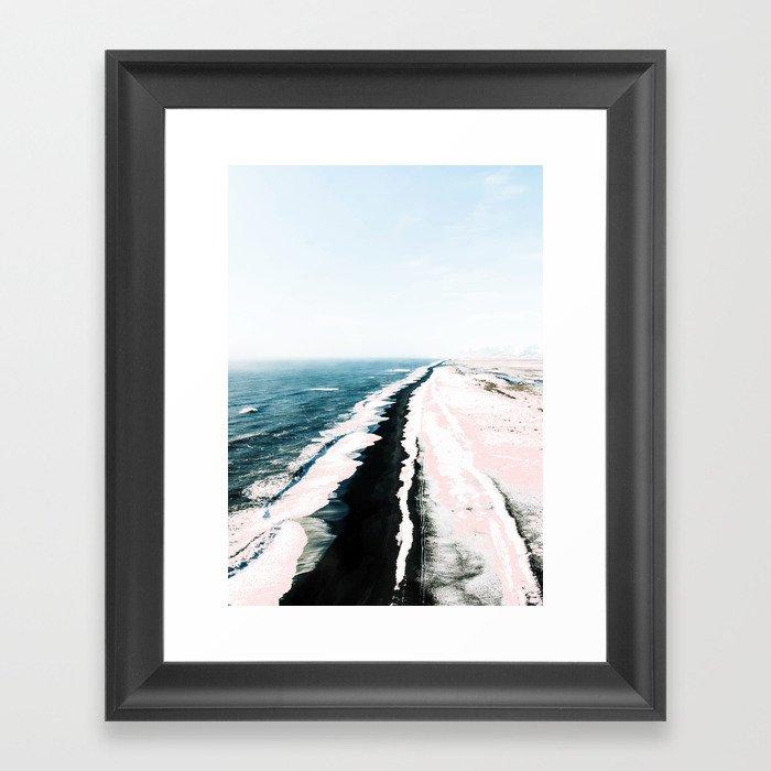 Pink Sand #society6 #decor #buyart Framed Art Print