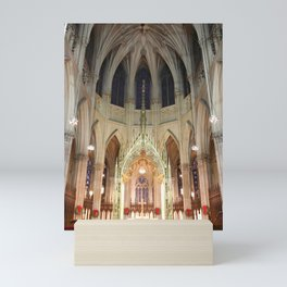 Christmas Decorations in St. Patrick's Cathedral Mini Art Print