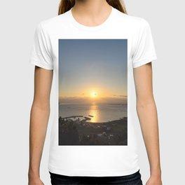 Sunrise of Seongsan Ilchulbong as seen from Jimibong in Seongsan, Jeju T-shirt