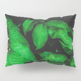 green leaves texture background Pillow Sham
