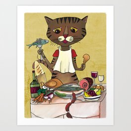 'Owen's Second Breakfast' Art Print