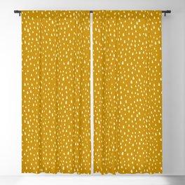 Mustard Paint Drops Blackout Curtain