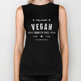 """""""Vintage Vegan"""" by Ben Capozzi Biker Tank"""