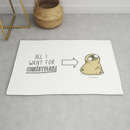 all I want for christmas is a pug Rug