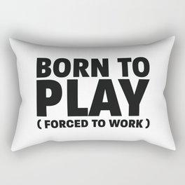 Born to play Rectangular Pillow