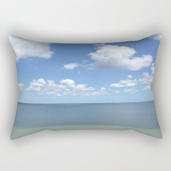 Tranquil Atmosphere On The Ocean Rectangular Pillow