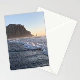 Morro Rock :: Sunset Beach Waves Stationery Cards