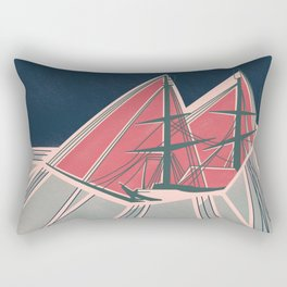 Terror in the Ice Rectangular Pillow